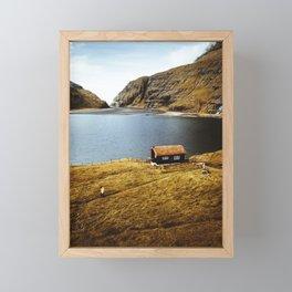 on the road to saksun Framed Mini Art Print