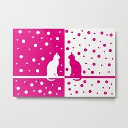 Pink cats 85 Metal Print