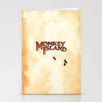 monkey island Stationery Cards featuring Monkey Island - Treasure found! by Sberla