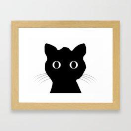 Black eyes cat Framed Art Print