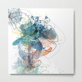 Blue Botanica Metal Print