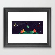 El susto del mundo Framed Art Print