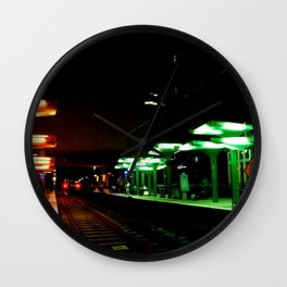 Bus Station Nights Wall Clock
