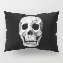 Skull on Black Pillow Sham