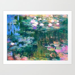 water lilies : Monet Art Print