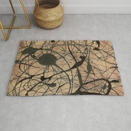Pollock Inspired Cool Abstract Splatter Drip Art Painting - Corbin Henry Rug