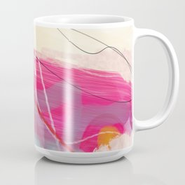 abstract landscape with pink sky over white cloud mountain Coffee Mug