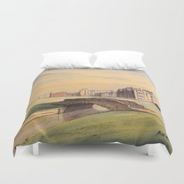 St Andrews Golf Course Scotland 18th Hole Duvet Cover