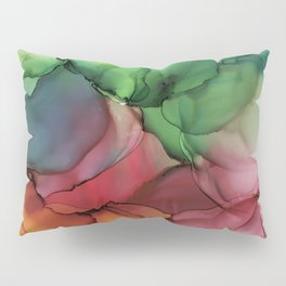 Rainbow Bloom Abstract ink Pillow Sham