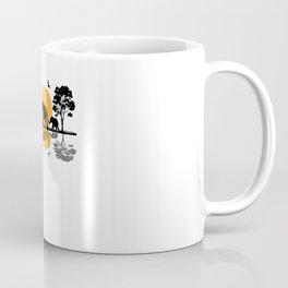 Africa Safari Elephant Family Motif Coffee Mug