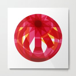 Abstract Sphere Metal Print