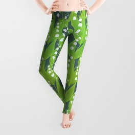 Lily of the Valley Pattern Leggings