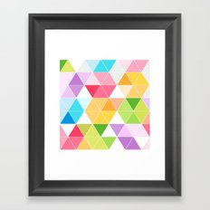 Colorful Triangle Mosaic Framed Art Print