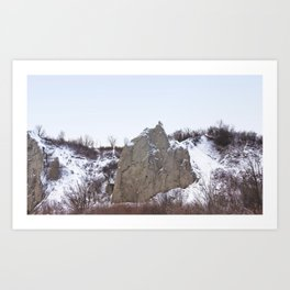 Scarborough Bluffs in Winter on December 27th, 2020. XII Art Print
