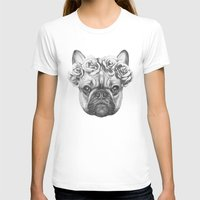 frenchie T-shirts featuring Frenchie by Victoria Novak