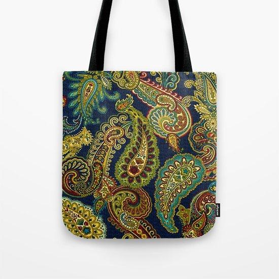 Floral Paisley Pattern 05 Tote Bag