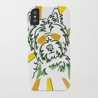 westie iPhone & iPod Cases featuring Westie, fun, crazy, whimsical by ClarityArtDesign