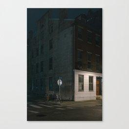 Philadelphia neighborhood street corner Canvas Print