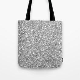 Silver Gray Glitter Tote Bag