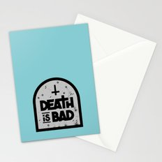 Death is Bad Stationery Cards