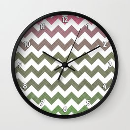 Pink Roses in Anzures 3 Chevron 2T Wall Clock