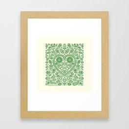 Folk Heart Framed Art Print