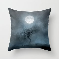 The Moon and the Tree. II Throw Pillow