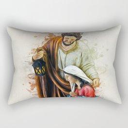 Joseph Mary and Jesus Rectangular Pillow