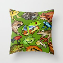 Save Our Species - Frog Poster Print Throw Pillow