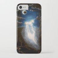 the last unicorn iPhone & iPod Cases featuring Last unicorn by Zuzana Ondrejkova