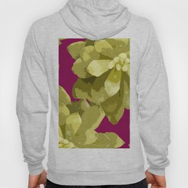 Succulent Plants On A Burgundy Background #decor #buyart #society6 Hoody