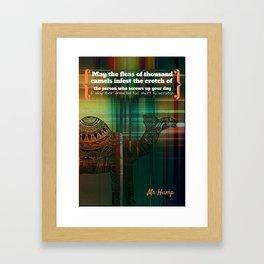 Mr Hump Framed Art Print