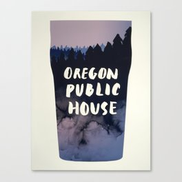 Oregon Public House Poster - 7 Canvas Print