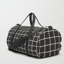 Simple black and white grid | Duffle Bag