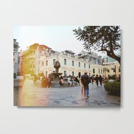 Sunset in Old Macao Metal Print