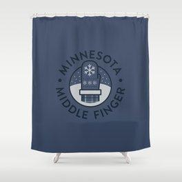 Minnesota Middle Finger Shower Curtain