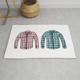 Flannel shirts Rug