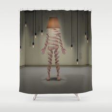 A light man Shower Curtain