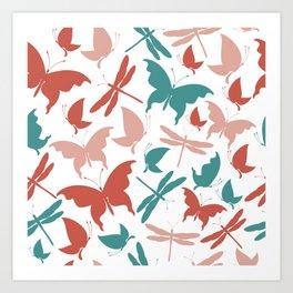 Pastel Butteflies Art Print
