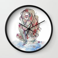 cyclops Wall Clocks featuring Cyclops by MarieBoiseau