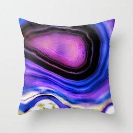 Surreal Geode Throw Pillow