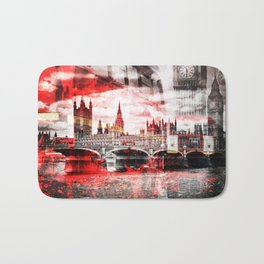 City-Art LONDON Red Bus Composing Bath Mat