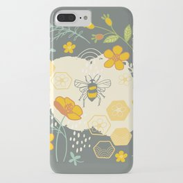 Little Bee and Buttercups iPhone Case