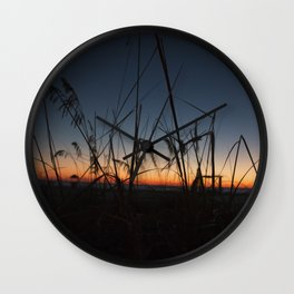 Sunset in the Dunes Wall Clock