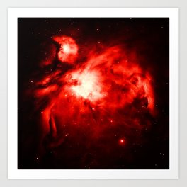 Orion NeBULA : Red Art Print