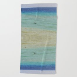 boats against the current (revisited) Beach Towel