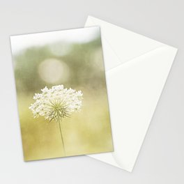 Queen Anne's Lace Nature Photography, Pale Yellow Floral Photography Stationery Cards