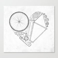 Love Bike (Grey) Canvas Print