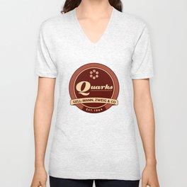 Quarks Vintage Logo Unisex V-Neck