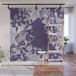 Stardust Violet Indigo Floral Motif Wall Mural